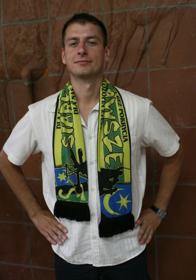 Grzegorz Ciszewski ma 28 lat i jest najmłodszym prezesem w historii Klubu Sportowego Siarka Tarnobrzeg.