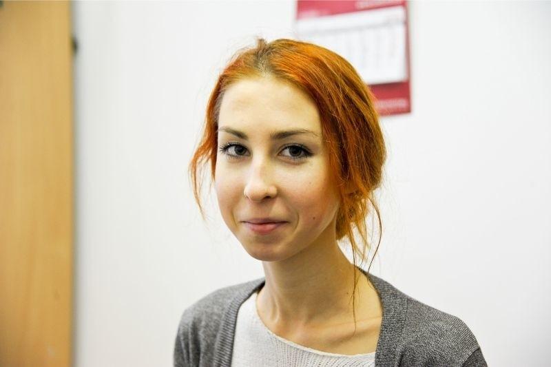 Anastazja Gałko od miesiąca uczy się języka polskiego. Robi ogromne postępy. Na święta jedzie do rodzinnego domu.