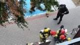 Inowrocław. Akcja straży pożarnej przy wieżowcu na osiedlu Rąbin. Spokojnie, to tylko ćwiczenia. Zdjęcia