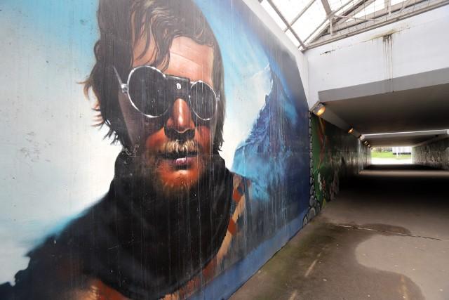 Mural Jerzego Kukuczki w Katowicach