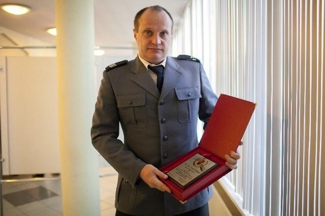 Wśród najlepszych policjantów województwa łódzkiego jest sierż. sztab. Bogdan Matecki.
