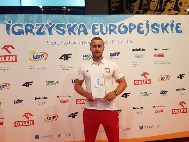 Michał Łubniewski jest zawodnikiem AZS-u Politechniki Opolskiej dopiero od tego roku. Na Igrzyskach Europejskich w Mińsku pokazał się z dobrej strony.