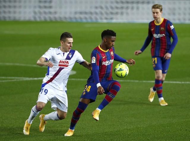 Damian Kądzior zagrał przeciwko FC Barcelonie