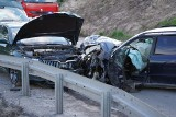 Wypadek w Szkocji w powiecie nakielskim. Zderzenie trzech aut. Ranne dziecko! [zdjęcia]