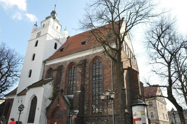 Widok na Kluczbork z wieży Kościoła Zbawiciela