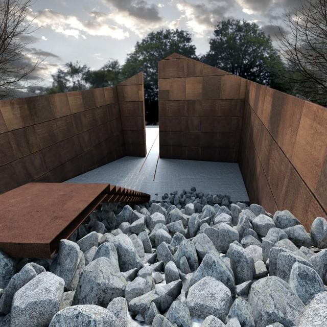 Zwycięska  praca na projekt Pomnika Ofiar Deportacji Mieszkańców Górnego Śląska do Związku Sowieckiego, autorstwa Michała Dąbka i Jana Kuka z Krakowa.
