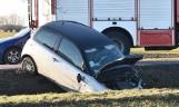 Wypadek na drodze krajowej numer 55 koło Malborka 28.02.2021 r. Dwie osoby zostały ranne