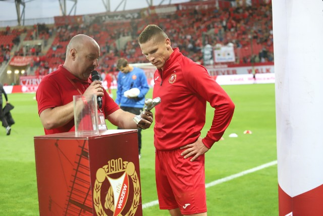 Marcin Tarociński i Marcin Robak przed poprzednim meczem z Garbarnią w Łodzi
