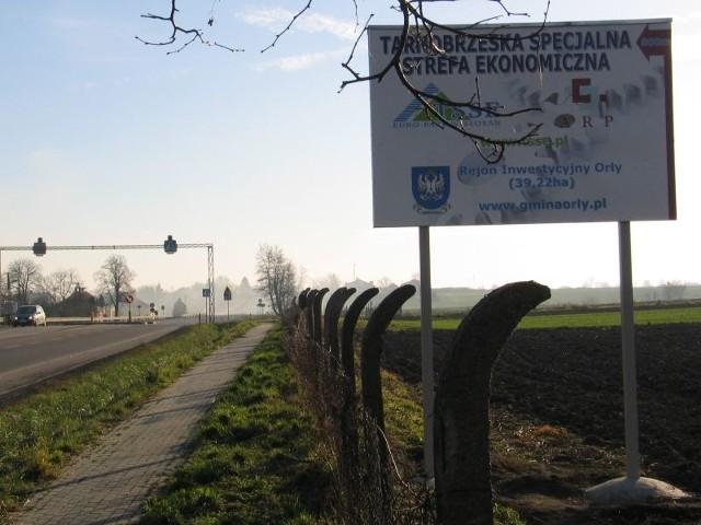 Atrakcyjnie położony rejon inwestycyjny w Zadąbrowiu – Orłach, po uzbrojeniu w media i drogi, może przyciągać inwestorów.