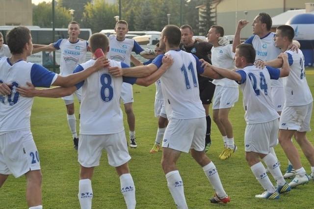 Radość rzeszowian po meczu w Tarnobrzegu była uzasadniona.