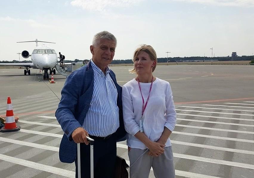 Marek Belka, łódzki eurodeputowany KE i Anna Midera, prezes Portu Lotniczego Łódź.CZYTAJ DALEJ >>>>