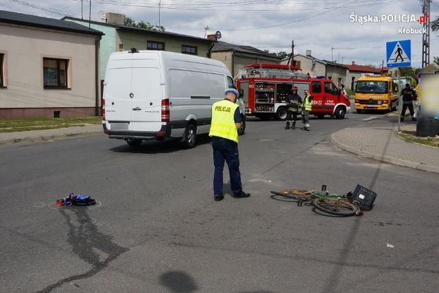 Tragiczny wypadek w Kłobucku. Rowerzystka wjechała pod samochód