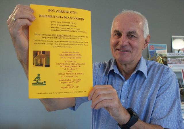 - Bon zdrowotny dla seniora to inicjatywa, która ma poprawić jakość życia starszych krośnian - mówi Bronisław Baran