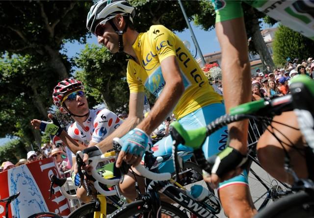 Vincenzo Nibali i Rafał Majka na Tour de France 2014