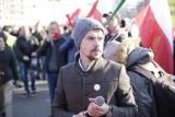 Warszawa: Protest rolników 3.04 [ZDJĘCIA] [WIDEO] AGROunia zablokowała centrum. Michał Kołodziejczak: Nie jesteśmy przeciwko warszawiakom!