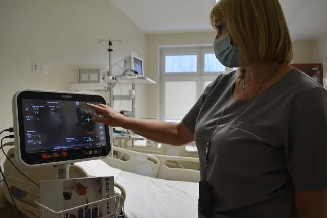 - Kardiomonitory są wyposażone w komplet mankietów do mierzenia ciśnienia i pulsoksymetrów dostosowanych nawet do bardzo malutkich rączek naszych najmłodszych pacjentów – mówi Katarzyna Laskus, pielęgniarka oddziałowa Oddziału Chirurgii Dziecięcej.