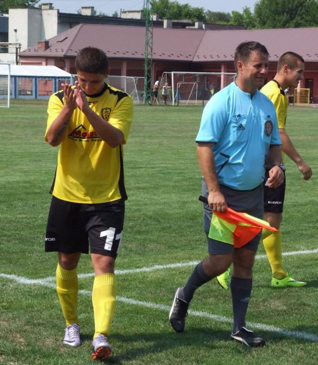 Paweł Piskorz po pierwszym meczu w Trzebini stał się ulubieńcem miejscowych kibiców.
