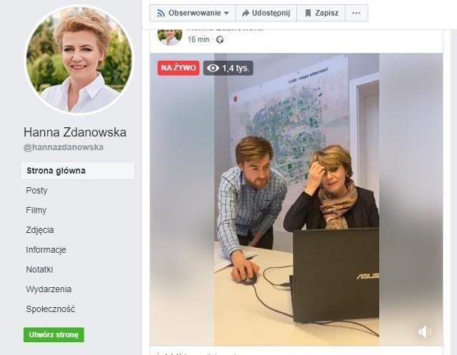 Video-czat Hanny Zdanowskiej trwał około 40 minut. Prezydent obiecała kolejne wkrótce.