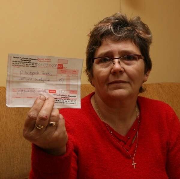 - Zapłaciłam za badanie 15 zł. A wyniku nie mam - mówi Teresa Matyszok z Opola.