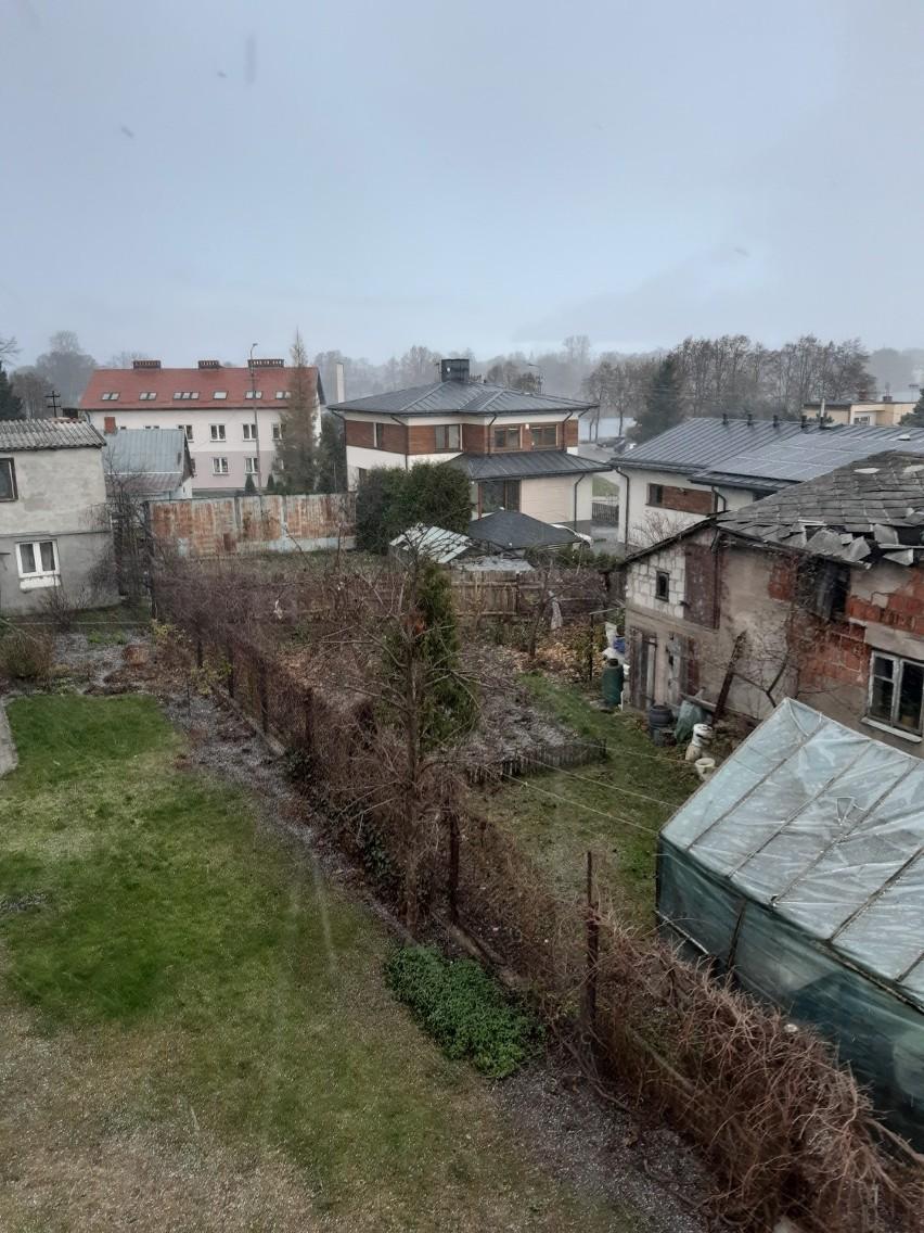 Śnieg w Suwałkach