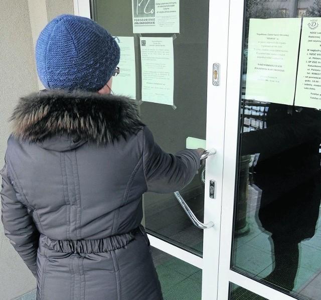 Na początku stycznia w Białymstoku wiele gabinetów lekarskich było zamkniętych.