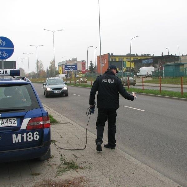 Na pijanego policjanta czekał już patrol.