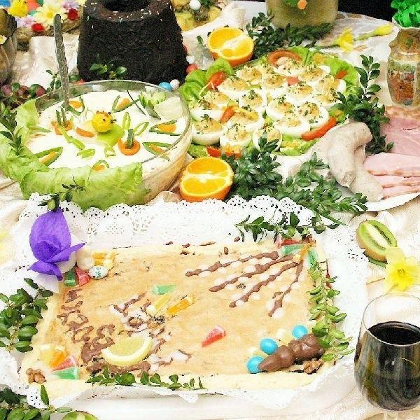 Wszystkim inowrocławianom życzymy, by ich  wielkanocne stoły wglądały tak, jak ten zdjęciu
