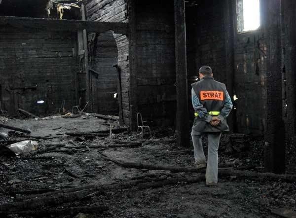 Spalony kościól w Grabówce