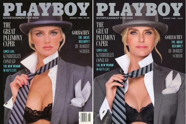 Kimberley Conrad Hefner, 1988 rokFotografowie Ben Miller i Ryan Lowry odtworzyli okładki magazynu Playboy publikowane w latach 1979-1991 udowadniając, że kobiece piękno nie zna wieku. Zobaczcie, jak prezentują się słynne Króliczki Playboy`a po 30 latach.