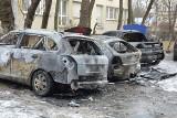 W nocy spłonęły trzy samochody [FILM, FOTO]