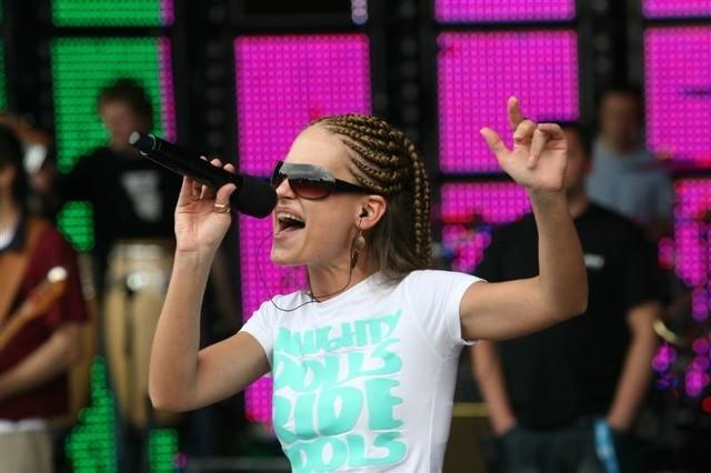 Superjedynki 2009 - Marika nominowana w kategorii debiut roku. Próba w amfiteatrze w Opolu.