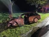 Zderzenie trzech aut w Studźcach. Jedna osoba ranna