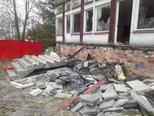 Mężczyzna zginął przygnieciony przez schody dawnego przedszkola w Lubsku.