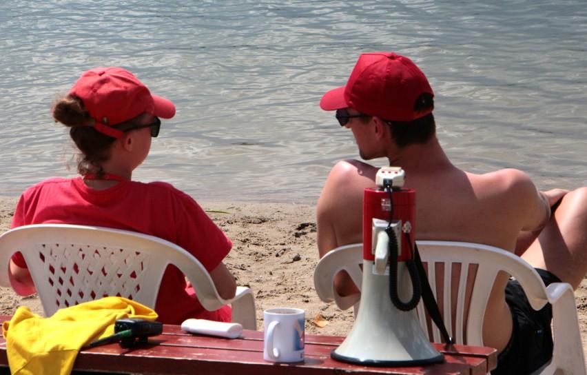 Posterunek wodny tradycyjnie został uruchomiony przy plaży...