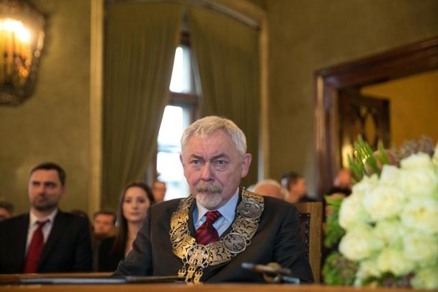 Jacek Majchrowski na inauguracyjnej sesji rady miasta