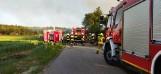 Kilkanaście zastępów straży pożarnej gasiło pożar pod Gnieznem