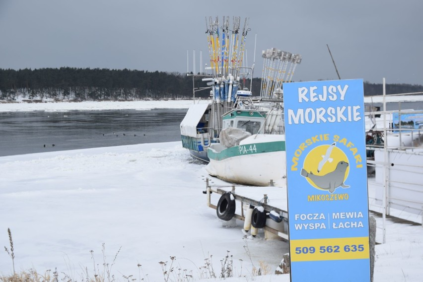 Zaśnieżona Wisła. Piękne zimowe zdjęcia z ujścia Wisły do Bałtyku