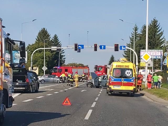 Wypadek na ul. Krakowskiej w Rzeszowie
