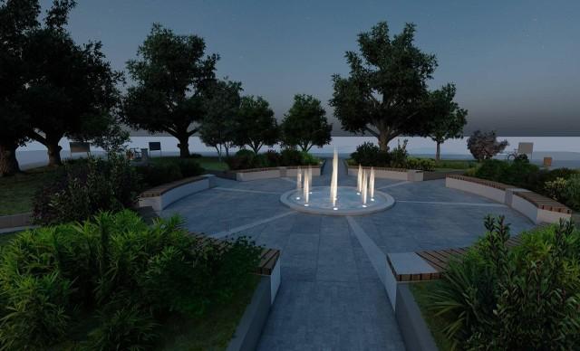 Ozdobą nowego centrum ma być znajdujące się na środku fontanna, która będzie podświetlana po zmroku