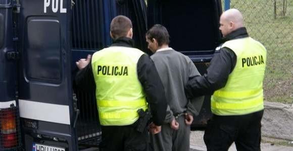 Zdjęcie z zatrzymania Kamila K. w marcu tego roku