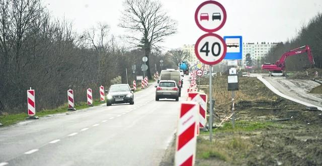 Ze względu na S6 wzrósł znacznie ruch na ulicy Władysława IV w Koszalinie