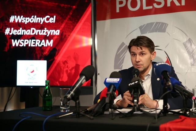 Prezes Polskiego Związku Piłkarzy Euzebiusz Smolarek