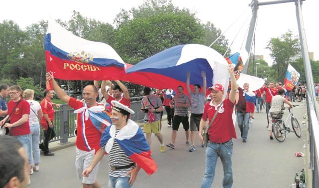 Mistrzostwa w piłce nożnej Euro 2012. Rosjanie tłumnie przybyli wtedy do Wrocławia