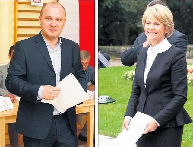 W drugiej turze wyborów zmierzą się Piotr Krzystek i Małgorzata Jacyna-Witt.