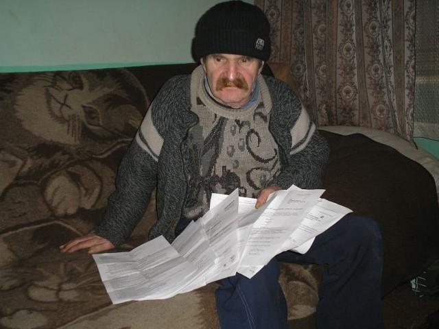 Stanisław Haładaj jest ścigany przez komornika, bo został żyrantem najbliższej rodziny. Gdy krewni przestali płacić należności, okazał się jedynym, z którego można ściągnąć dług.