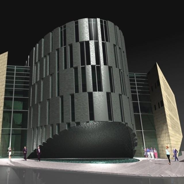 W budynku będzie część handlowa i hotelowo-konferencyjna.