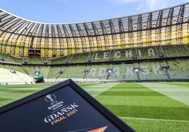 Przygotowania na stadionie i w jego sąsiedztwie do finału Ligi Europy w Gdańsku