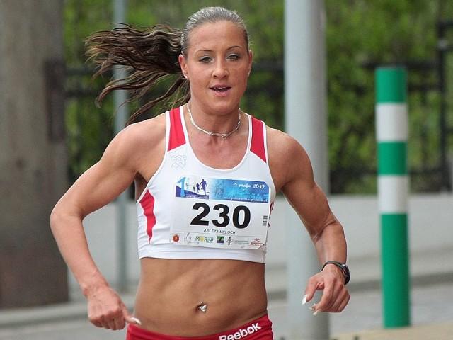 Arleta Meloch na trasie półmaratonu