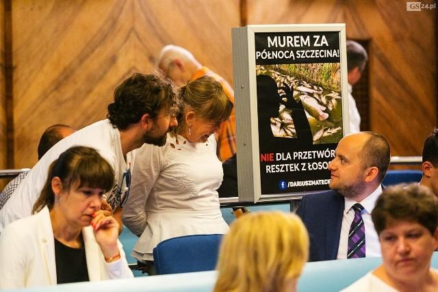 Mieszkańcy północnych dzielnic Szczecina pojawili się na dzisiejszej sesji rady miasta