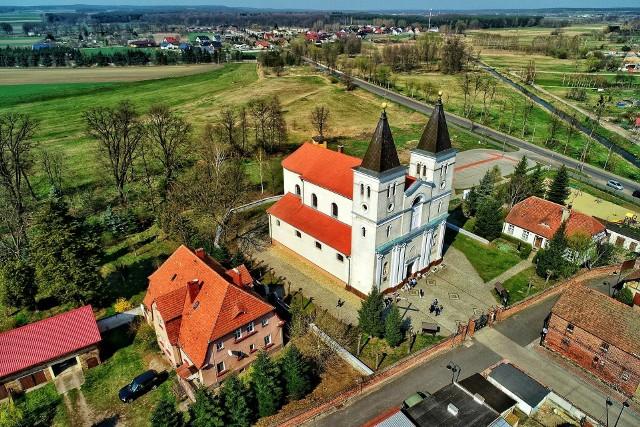 Babimostem – miasto Regionu Kozła w Lubuskiem - z lotu ptaka